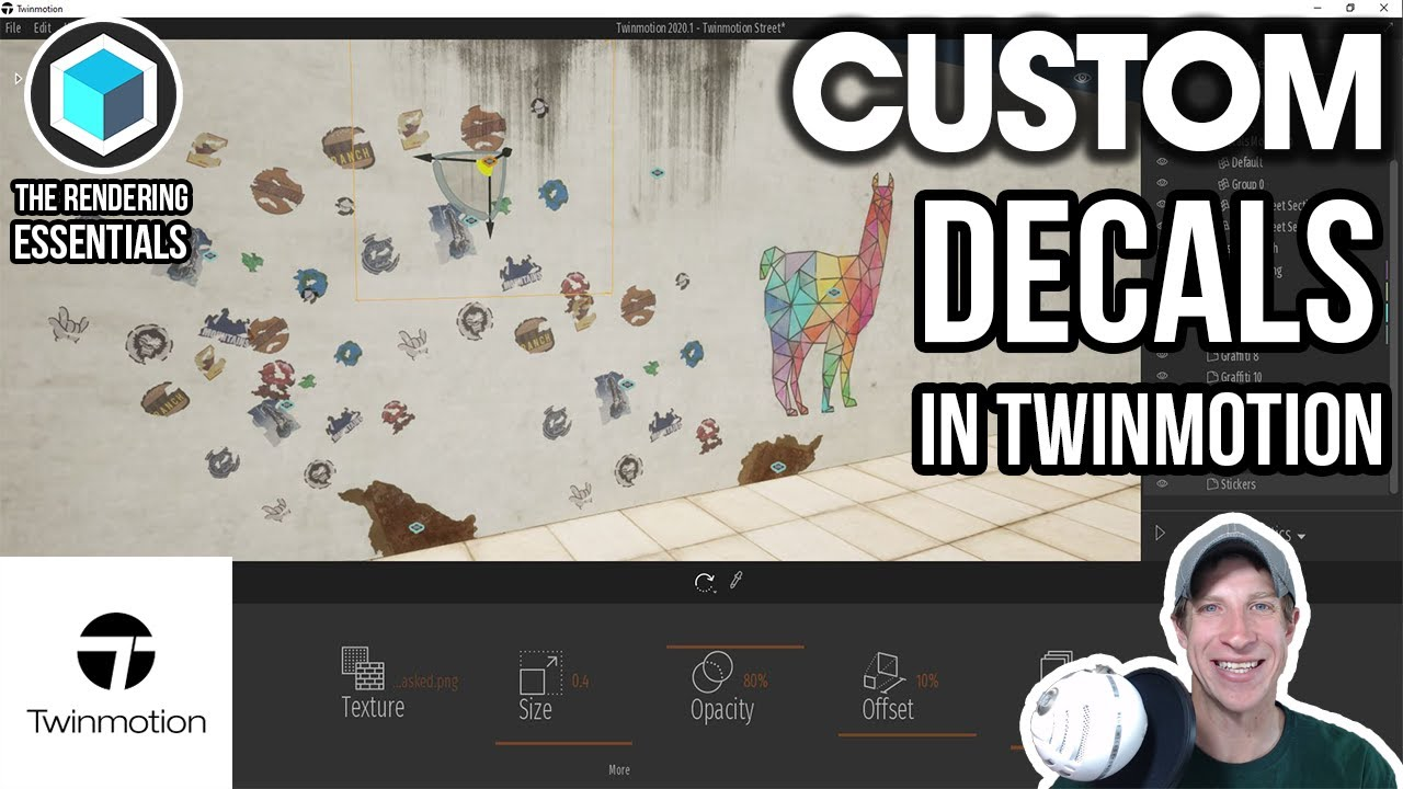 Creating CUSTOM DECALS in Twinmotion!