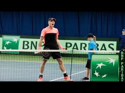 Davis Cup. Belarus - Austria. Day 3. Ilya IVASHKA vs Gerald MELZER