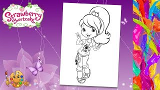 Strawberry Shortcake : Plum Pudding | Coloring pages for kids | Coloring book |