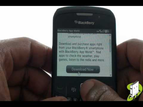 Downloading BlackBerry App World | Curve 8520 | The Human Manual