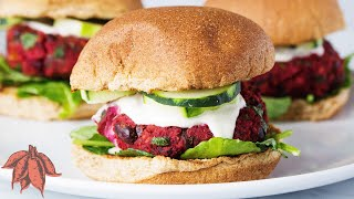 WORLD'S BEST VEGGIE BURGER: Black Bean Beet Burgers   Collab with Simply Quinoa