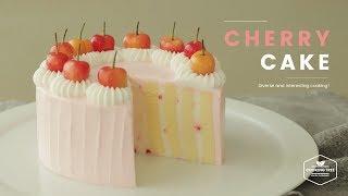 체리 롤 생크림 케이크 만들기💕 : Cherry vertical layer cake Recipe - Cooking tree 쿠킹트리*Cooking ASMR