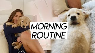 my morning routine with my puppy! morning with my golden retriever puppy
