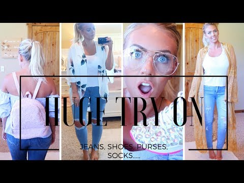 HUGE TRY ON HAUL | Jeans, Shoes, Accessories & UNICORN Socks!!!