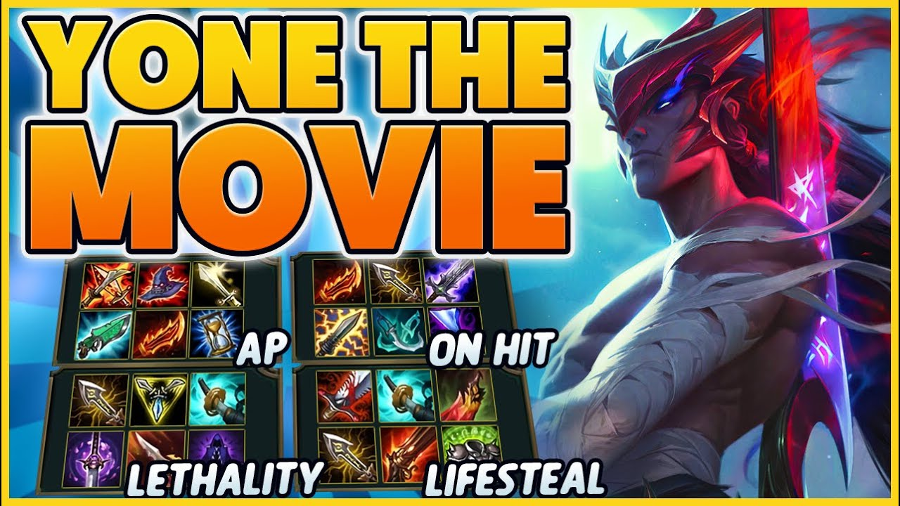 EVERY POSSIBLE BUILD ON YONE!!! (3 HOUR MOVIE) - BunnyFuFuu | League of Legends