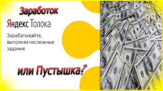 Заработок  на Яндекс Толока Миф или Реальность?-Мой отзыв