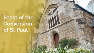 (2021-01-25) January 25, 2021. Mass for the Feast of the Conversion of St Paul