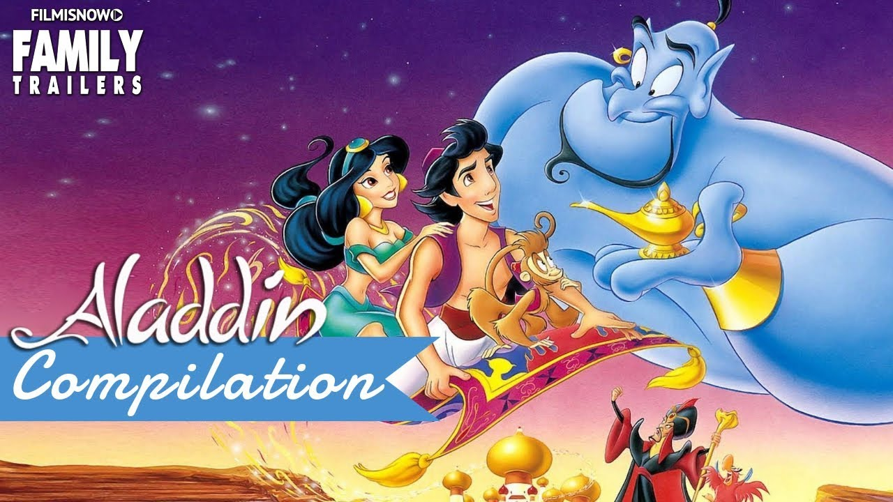 Aladdin All The Best Clips And Trailer Compilation For Disney Classic Movie Youtube