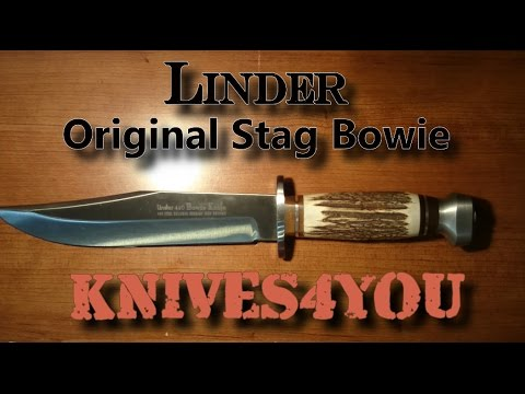 Linder Original Stag Bowie Fixed Knife
