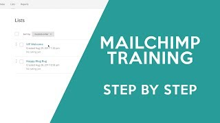 Mailchimp Tutorial - How to Set Up MailChimp Lists and Emails