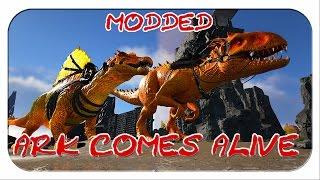 MODDED ARK: Comes alive - ALPHA SPINO UND ALPHA INDOMINUS REX! UNTERWASSER CAVE! (Season1/Folge26)