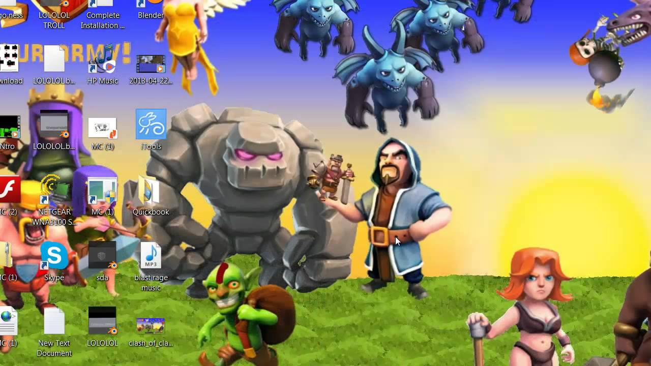 Clash of clans HD 1080p wallpaper YouTube