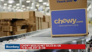 Chewy Forecast Tops Analyst Estimates in First Public Earnings Report