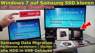 Windows 7 auf Samsung SSD Evo klonen mit Samsung Software