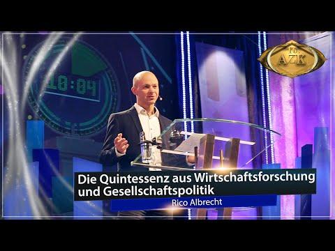"16. AZK: Infogigant Rico Albrecht ""Die Quintessenz aus Wirtschaftsforschung & Gesellschaftspolitik."""