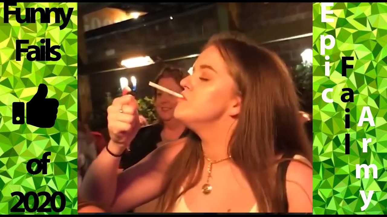 [Epic Fail Army] ▬ 😝She can not light the cigarette😁 - Funny Fail Compalitation 2020 #4 ▬