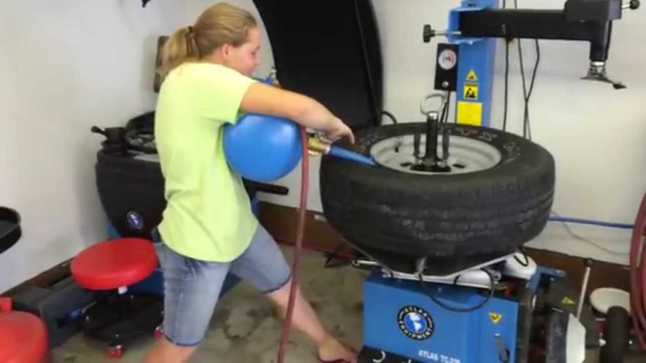 Bead Blaster Tire >> My Sister uses the Bead Blaster - YouTube