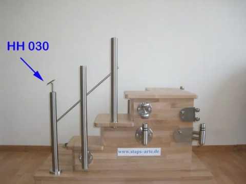 Ordentlich www. staps-arte.de Edelstahl - Geländer - Stecksystem - YouTube NN38