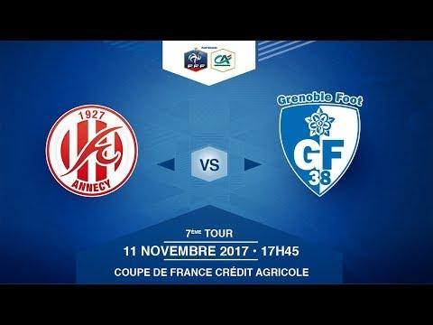 COUPE DE FRANCE, 7e tour - FC Annecy - Grenoble Foot 38 - Samedi 11/11/2017 à 17h45