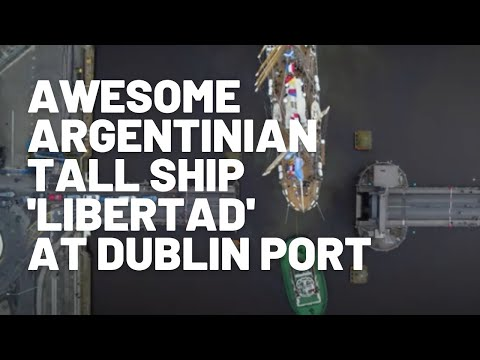 Watch the awesome Argentinian Tall Ship Libertad's arrival a