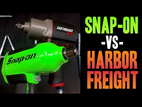 """Snap-on - VS - Harbor Freight ( MG725 / Earthquake XT ) 1/2"""" Impact Wrenches"""