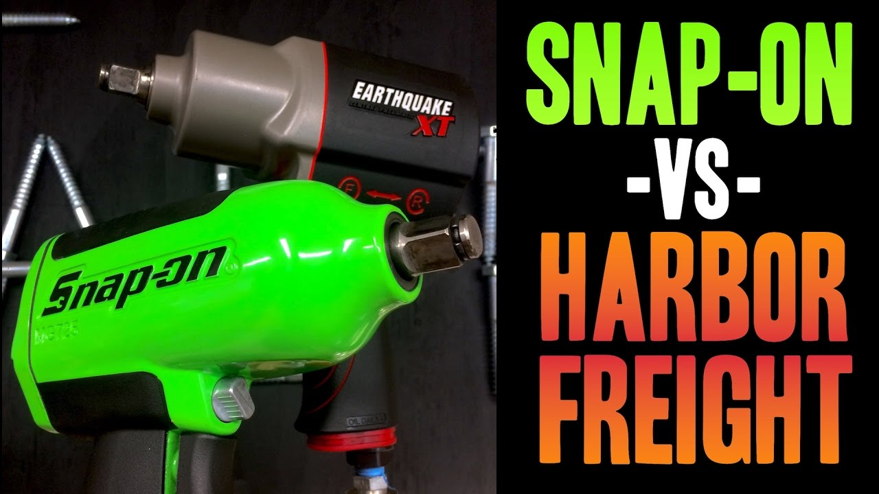 Snap On Vs Harbor Freight Mg725 Earthquake Xt 1 2 Impact Wrenches You