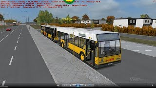 Omsi 2 tour (1593) 德國 (before 1991) Berlin linie 92 Heerstr Stadtgrenze - Freudstr @ Van Hool A320