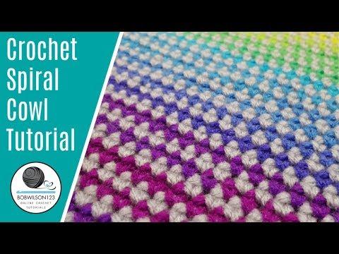 Crochet Spiral cowl tutorial