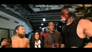 AJ Lee & Kane & Daniel Bryan & Dr.Shelby Backstage at WWE Night of Champions 2012