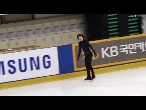 2016 KOR Nats, Senior MEN FS Final Group Warm-Up / Jun-Hwan CHA focus (FANCAM)