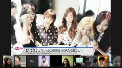 M COUNTDOWN HANGOUT CAM - Girls' Generation (소녀시대)