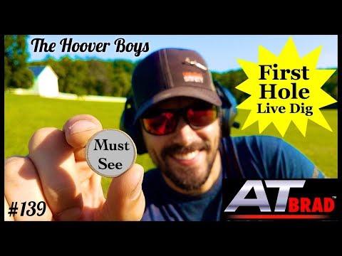 "Must See First Hole Live Dig Metal Detecting   Garrett AT Max ""AT Brad"""