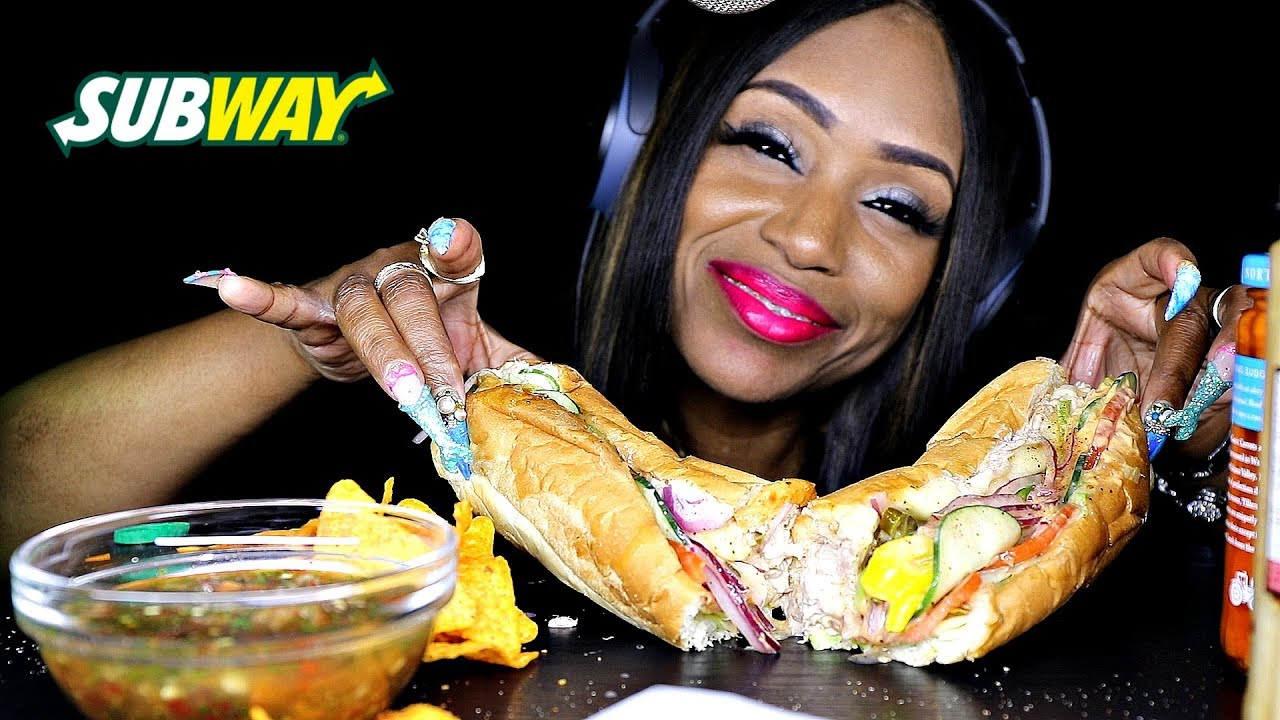 ASMR SUBWAY WITH PICKLED VEGGIES - YouTube