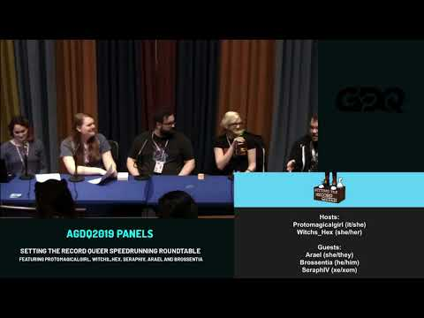 AGDQ 2019 Panels: Setting the Record Queer Speedrunning Roundtable