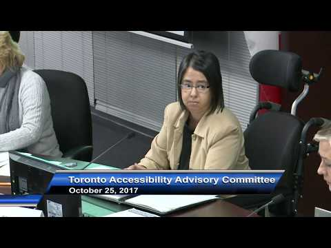 Toronto Accessibility Advisory Committee - October 25, 2017
