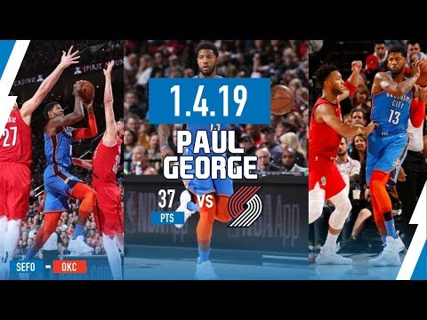 Paul George Explodes for 37 Points, 21 in the 1st Half vs Trail Blazers | January 4th, 2019