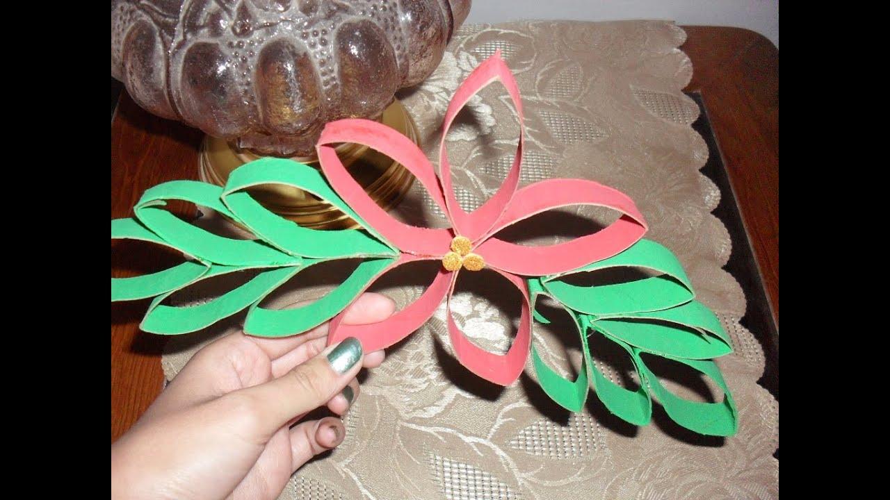 Navidad noche buena con tubos de papel higienico youtube - Adornos de navidad con papel ...