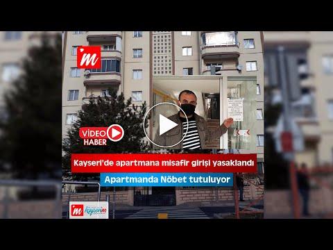 Kayseri'de apartmana misafir girişi yasaklandı