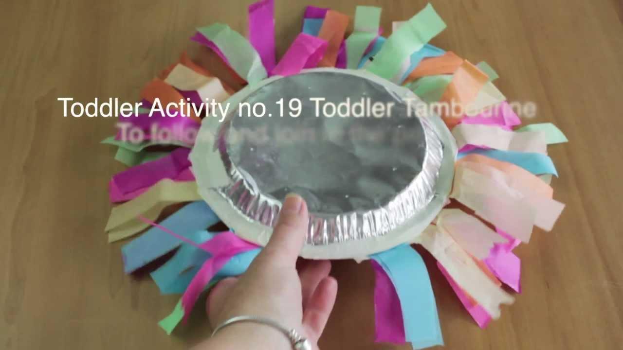 toddler activity no 19 toddler tambourine youtube