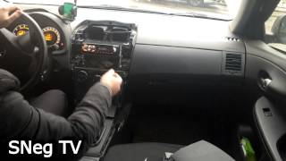 Toyota Corolla 2011 (E150) разбираем центральную часть панели