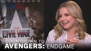 Emily VanCamp Talks 'Civil War' Head Kicks | EXTENDED