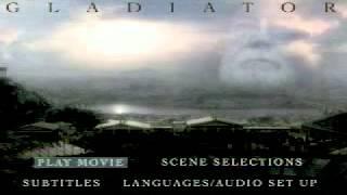 Menu DVD Filme Gladiador - ( www.sobaratos.loja2.com.br )