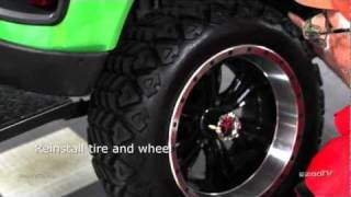 ezgo brake shoe installation   how to install   golf cart brake shoes