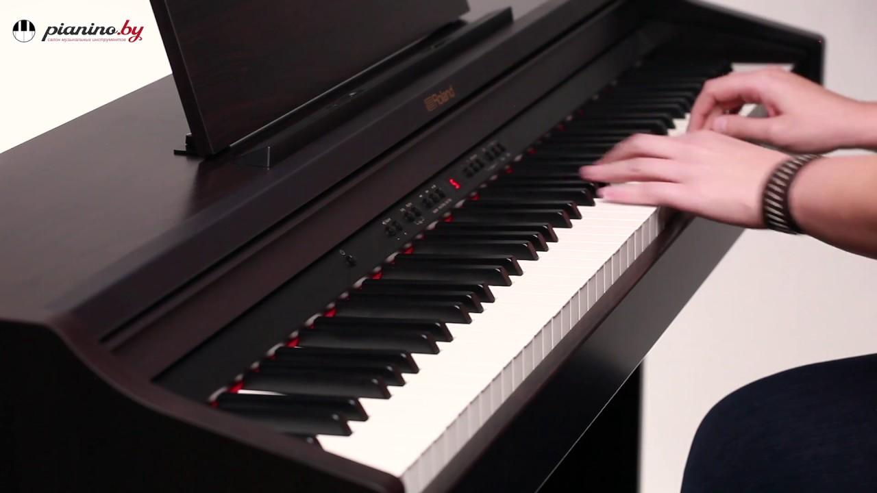 Roland - интеллектуальное цифровое фортепиано - YouTube