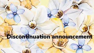 Discontinuation announcement