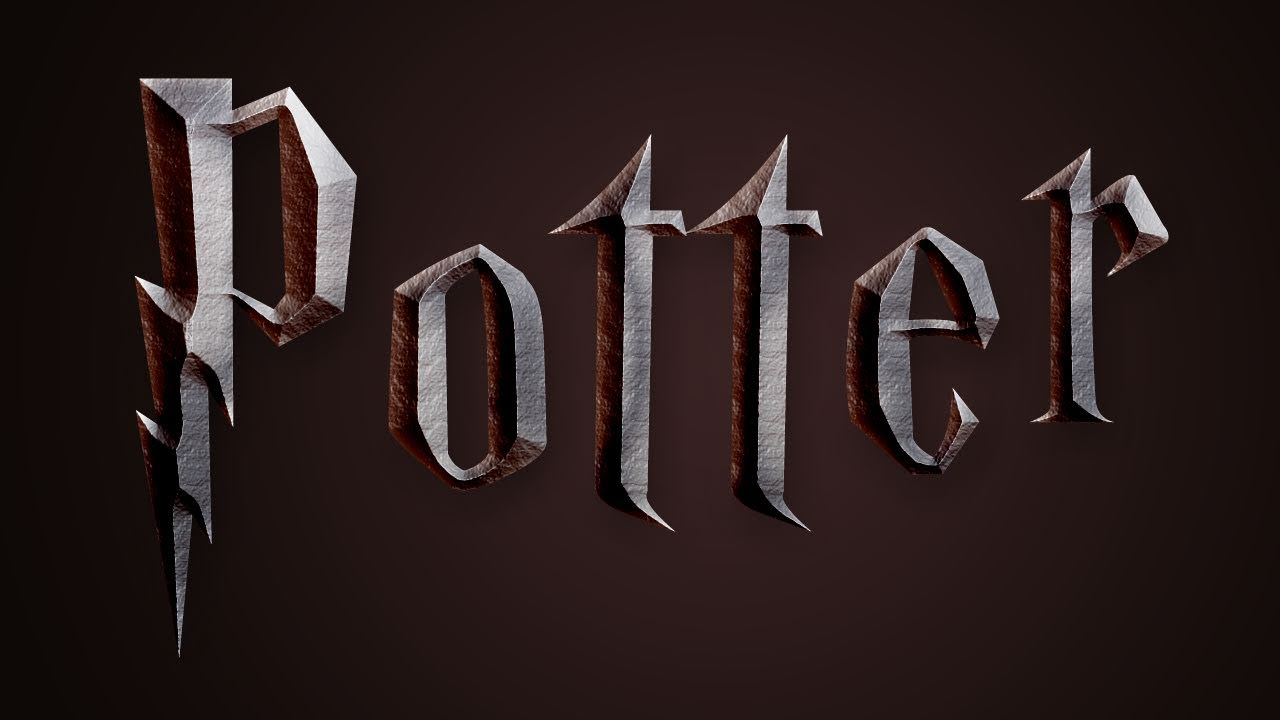 harry potter text effect in photoshop deathly hallows youtube