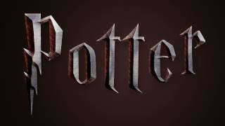 Harry Potter Text Effect in Photoshop (Deathly Hallows) | IceflowStudios