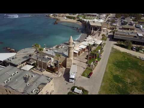 Caesarea old city 2000 years old - Israel - MavicPro - Full Movie