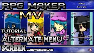 RPG Maker MV Tutorial: Alternate Menu Screen! (AltMenuScreen3 Plugin)