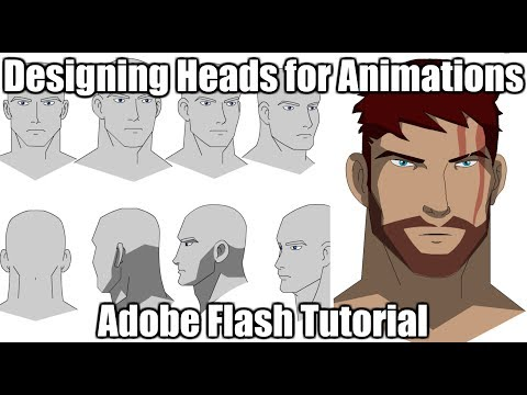 Designing Heads for Animations | Adobe Flash Tutorial